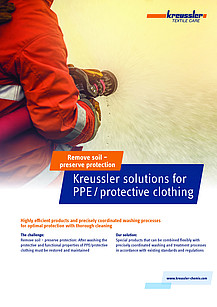 Kreussler provides safe solutions for PPE/protective clothing.